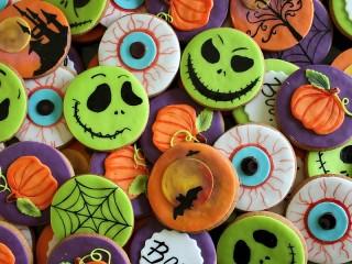 Собирать пазл Печенье на хэллоуин онлайн