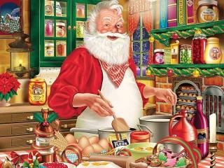 Собирать пазл Печенье от Санты онлайн