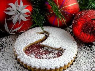 Собирать пазл Печенье с лебедем онлайн
