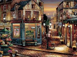 Собирать пазл Переулок на Монмартр онлайн