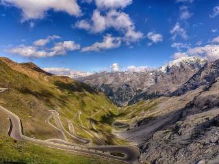 Собирать пазл Перевал Стельвио онлайн