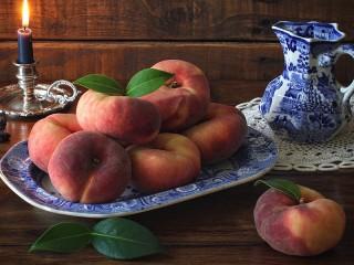 Собирать пазл Персики онлайн