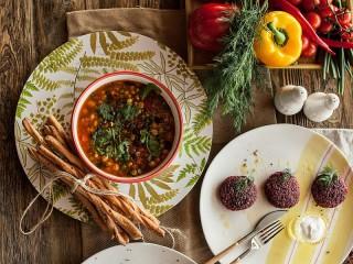Собирать пазл Первое блюдо онлайн