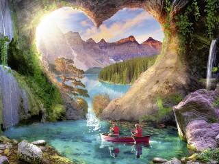 Собирать пазл Пещера онлайн