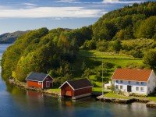 Собирать пазл Пейзаж в Норвегии онлайн