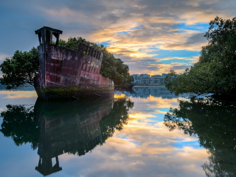 Пазл Собирать пазлы онлайн - Старый корабль