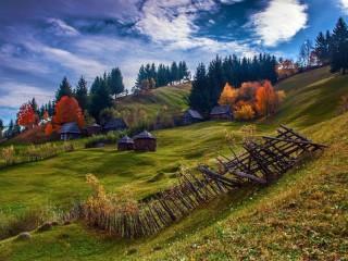 Собирать пазл Пейзаж Румыния онлайн