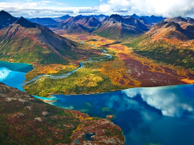 Пазл Собирать пазлы онлайн - Пейзажи Аляски