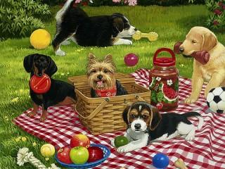 Собирать пазл Пикник онлайн