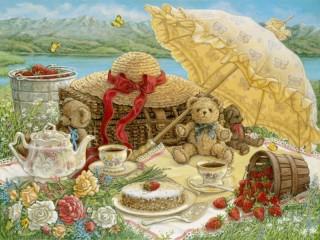 Собирать пазл Пикник 2 онлайн