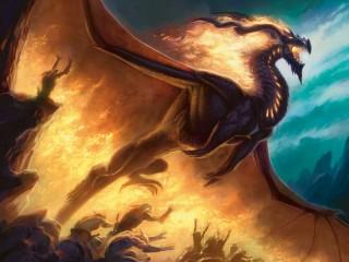 Собирать пазл Пылающий дракон онлайн