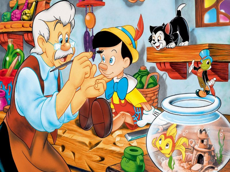Пазл Собирать пазлы онлайн - Пиноккио