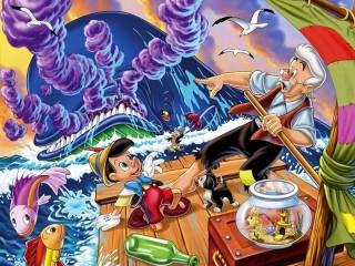 Собирать пазл Пиноккио 1 онлайн