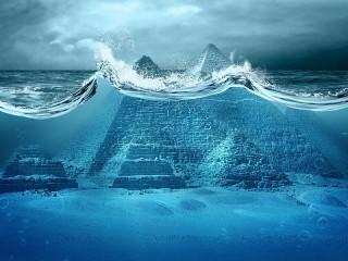 Собирать пазл Пирамиды под водой онлайн