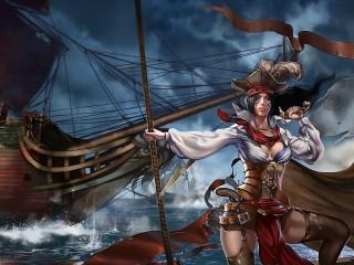 Собирать пазл Пиратка онлайн