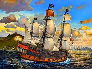 Собирать пазл Пиратский корабль онлайн