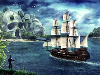 Собирать пазл Пиратский остров онлайн