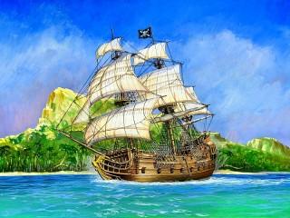 Собирать пазл Пиратский парусник онлайн