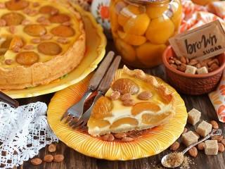 Собирать пазл Пирог с персиками онлайн