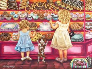 Собирать пазл Пирожное для всех онлайн