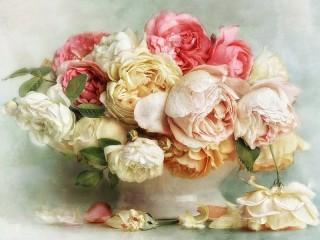Собирать пазл Пышные цветы онлайн