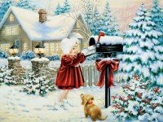 Собирать пазл Письмо Санта-Клаусу онлайн