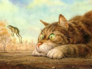 Собирать пазл Питерский кот онлайн