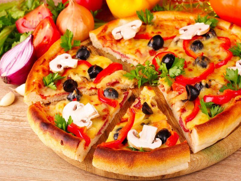 Пазл Собирать пазлы онлайн - Пицца с грибами