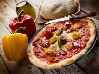 Собирать пазл Пицца с перцем онлайн