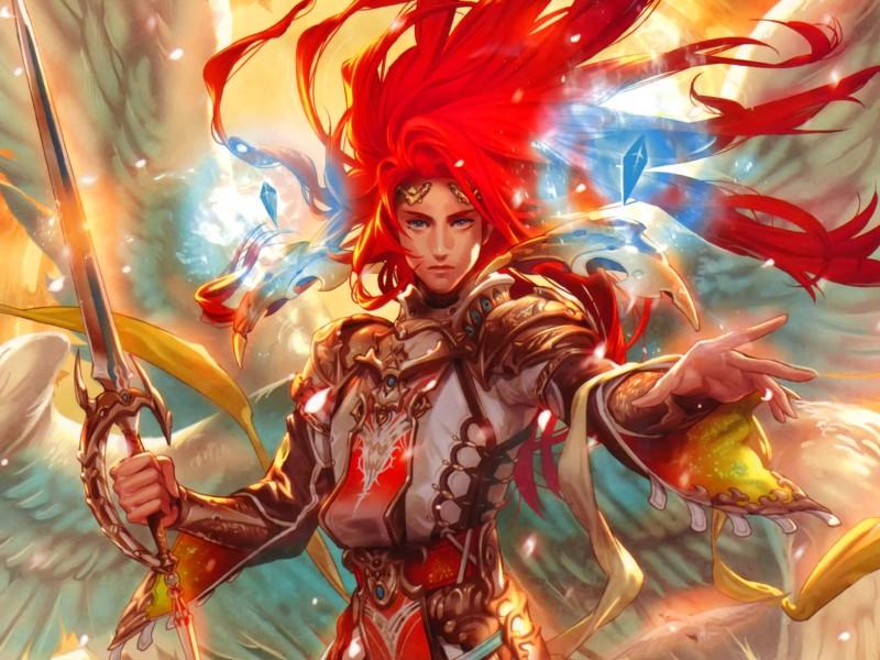 Пазл Собирать пазлы онлайн - Пламенный воин