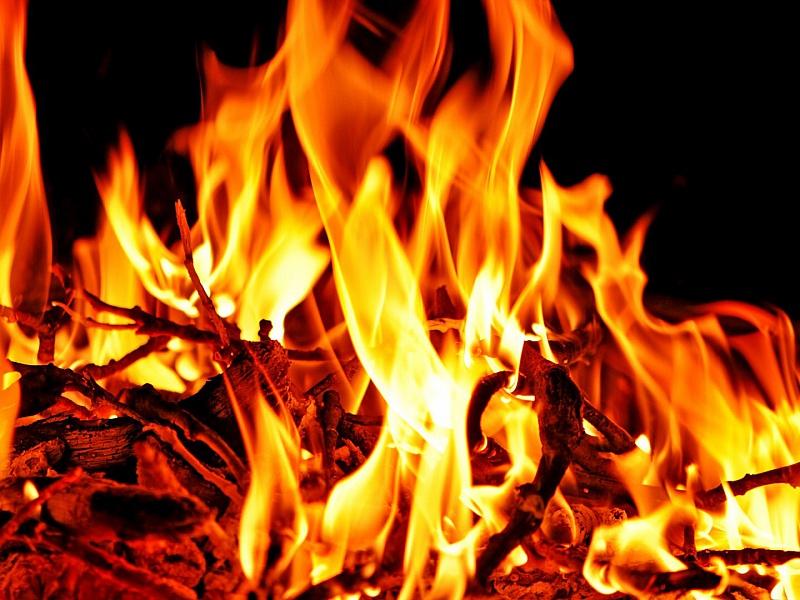 Пазл Собирать пазлы онлайн - Пламя костра