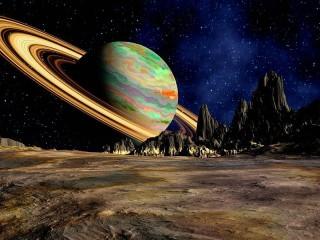 Собирать пазл Планета Сатурн онлайн