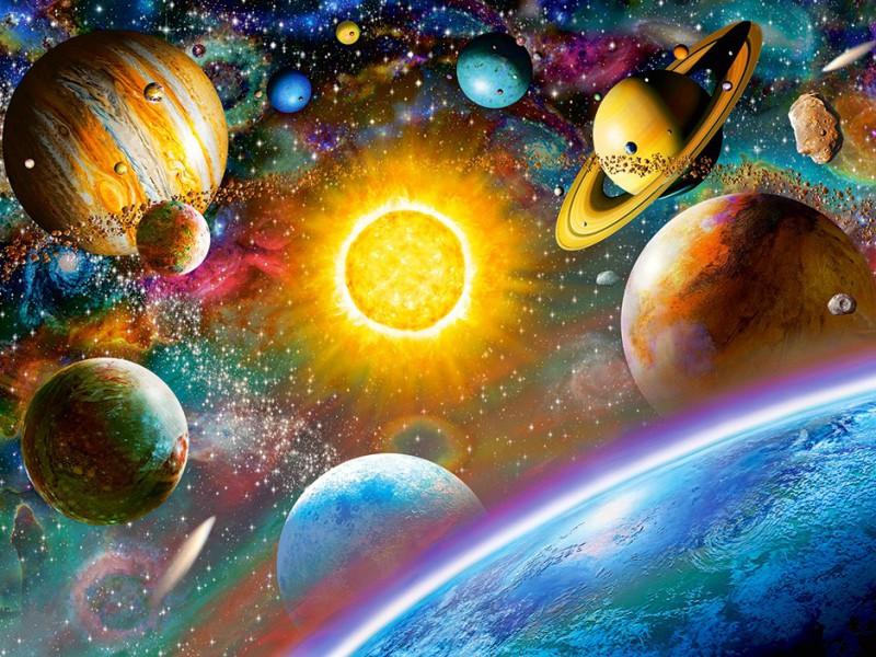 Пазл Собирать пазлы онлайн - Планеты