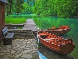Собирать пазл Плитвицкие озера онлайн