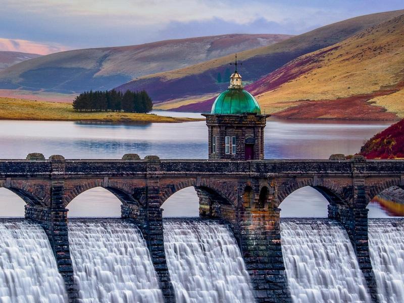 Пазл Собирать пазлы онлайн - Плотина в Уэльсе