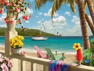 Собирать пазл Пляж 1 онлайн