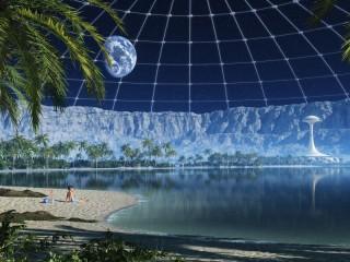 Собирать пазл Пляж под куполом онлайн