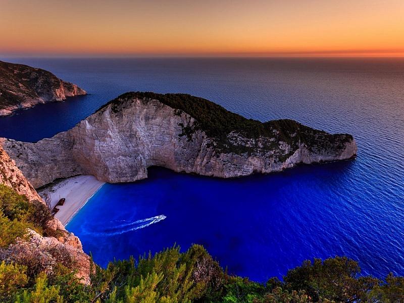 Пазл Пляж в Греции. Закат