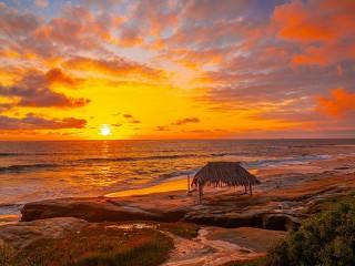 Собирать пазл Пляж в Калифорнии онлайн
