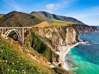 Собирать пазл Побережье Калифорнии онлайн