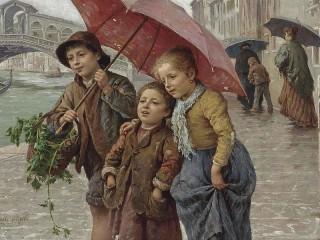 Собирать пазл Под зонтом онлайн