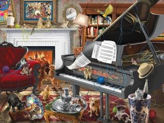 Собирать пазл Под звуки рояля онлайн