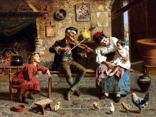 Собирать пазл Под звуки скрипки онлайн