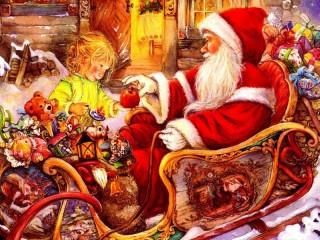 Собирать пазл Подарок для Санты онлайн