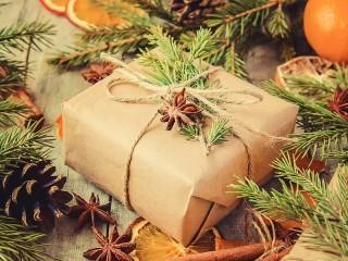 Собирать пазл Подарок под ёлку онлайн