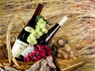 Собирать пазл Подарок в корзине онлайн