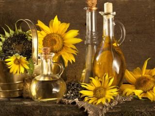 Собирать пазл Подсолнечное масло онлайн