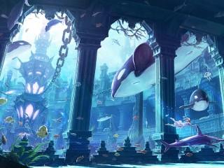 Собирать пазл Подводный город онлайн