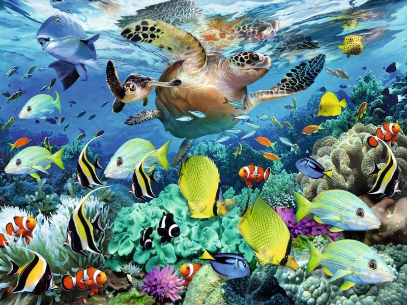 Пазл Собирать пазлы онлайн - Подводный мир