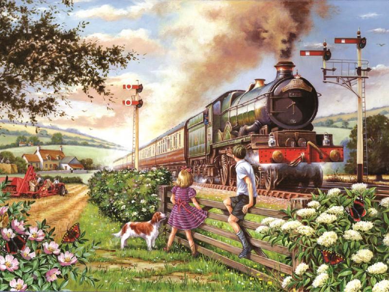 Пазл Собирать пазлы онлайн - Поезд